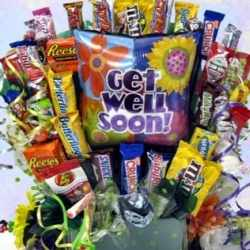 get well chocs basket